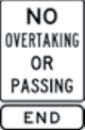 no overtaking or passing sign